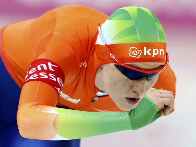 Lotte van Beek of Netherlands competes during the women's 1500m event at the Essent ISU World Single Distances Championships 2013 in Sochi