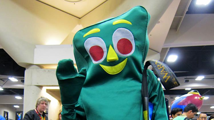 Gumby's green greeting from the convention floor - San Diego Comic-Con 2012
