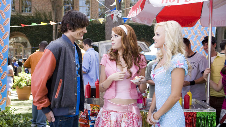 Tyson Ritter Emma Stone Anna Faris The House Bunny Production Stills Columbia 2008