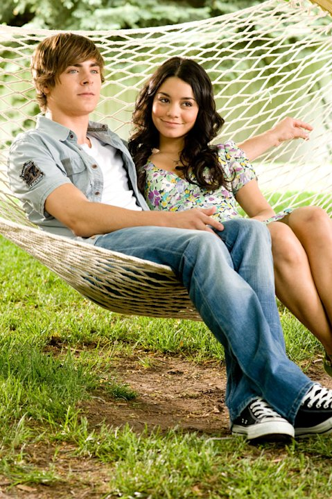 Zac Efron Vanessa Hudgens High School Musical 3: Senior Year Production Stills Walt Disney 2008
