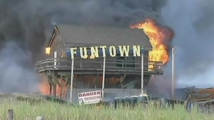 Fire destroys Jersey boardwalk
