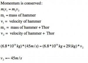 The God of Thunder, and Momentum