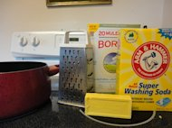 Supplies needed for laundry soap