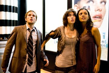Michael Stahl-David , Lizzy Caplan and Jessica Lucas in Paramount Pictures' Cloverfield