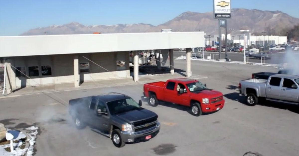 Trucks vs Building! Watch What Happens!