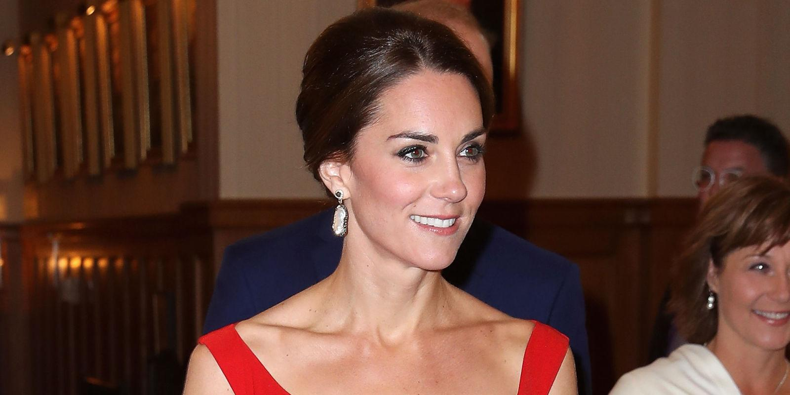 Kate Middleton Also Chose to Wear Red Last Night