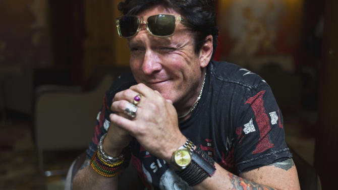 FILE - U.S. actor and president of the Champs-Elysees Film Festival Michael Madsen, poses at the Plaza Athenee Hotel, in Paris, in this June 6, 2012 file photo. Madsen was arrested Wednesday Sept. 12, 2012 on suspicion of drunken driving in Malibu and is spending the night in a hospital. Sheriff's spokesman Steve Whitmore says Madsen had a blood alcohol level of .21. The legal limit is .08.  (AP Photo/Thibault Camus, File)