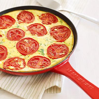 Crustless Tomato Pie