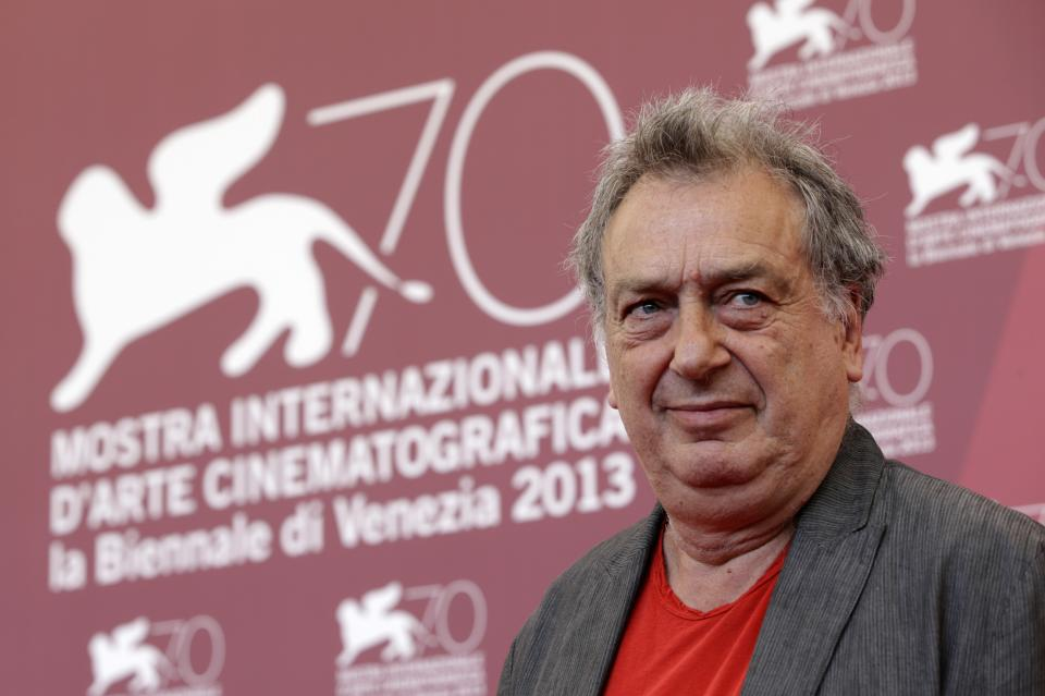 Director Stephen Frears poses for photographers during a photo call to promote the film Philomena at the 70th edition of the Venice Film Festival held from Aug. 28 through Sept. 7, in Venice, Italy, Saturday, Aug. 31, 2013. (AP Photo/Andrew Medichini)