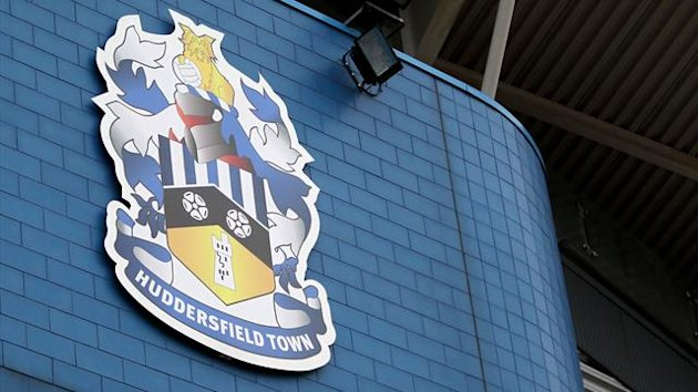 General view of the Huddersfield Town badge on the side of a stand at The Galpharm Stadium (PA Photos)