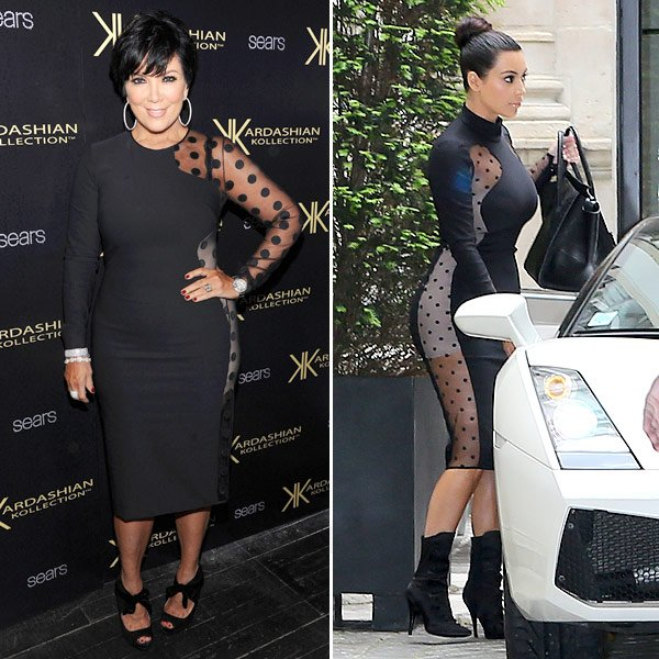 Kim Kardashian & Kris Jenner Show Off Right & Wrong Way To Wear Sheer