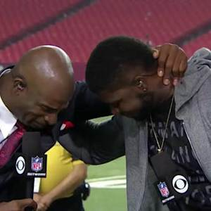 Primetime and Atlanta Falcons wide receiver Devin Hester share emotional moment