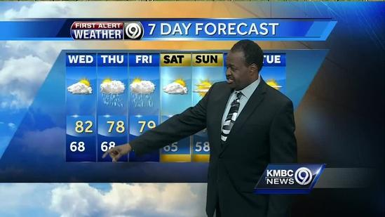 Severe weather possible tonight, Wednesday looks muggy