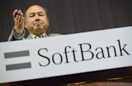 Masayoshi Son, president of Japanese telecom firm Softbank, during a press conference in Tokyo in September 2012. Japanese mobile carrier Softbank is eyeing a multi-billion dollar entry into the US telecoms market through the purchase of Sprint Nextel, possibly vaulting it among the top three mobile firms globally