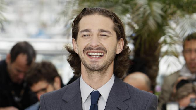Actor Shia LaBeouf poses during a photo call for Lawless at the 65th international film festival, in Cannes, southern France, Saturday, May 19, 2012. (AP Photo/Francois Mori)