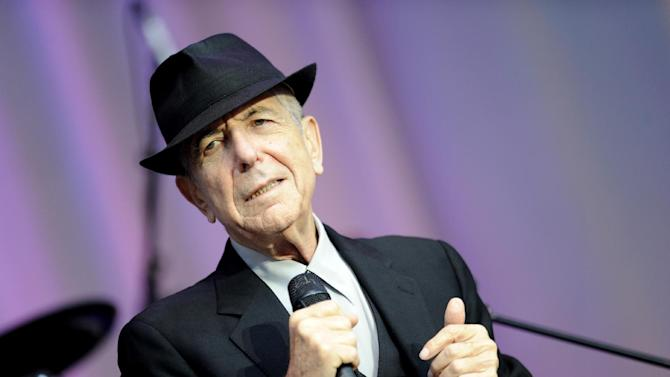 FILE - In this Aug. 18, 2010 file photo, singer Leonard Cohen performs open air at the Waldbuehne in Berlin. A Los Angeles jury convicted Cohen's former business manager Kelley Lynch of harassing the singer-songwriter by making hundreds of phone calls and sending emails, several of which were in violation of a restraining order. (AP Photo/DAPD, Kai-'Uwe Knoth)