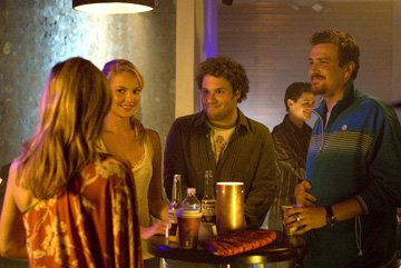 Katherine Heigl , Seth Rogen and Jason Segel in Universal Pictures' Knocked Up