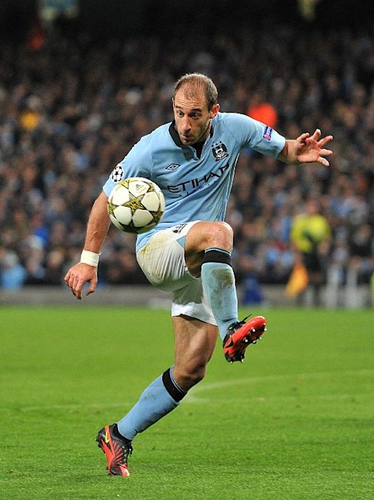 Pablo Zabaleta, pictured, believes the appointment of Rafael Benitez could make Chelsea dangerous on Sunday