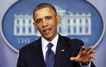 President Barack Obama speaks about the sequester after a meeting with congressional leaders at the White House in Washington March 1, 2013. REUTERS/Kevin Lamarque