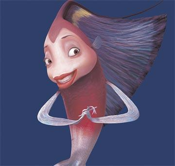 Renee Zellweger is the voice of Angie in Dreamworks' Shark Tale