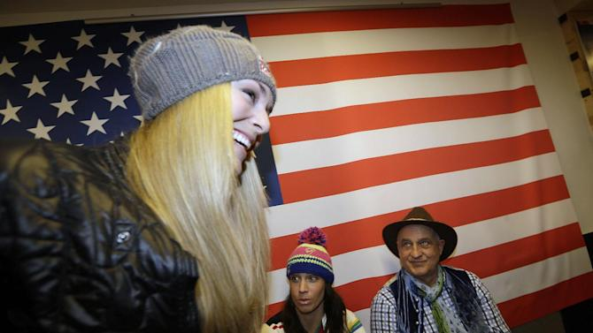 U.S. ski racer Lindsey Vonn smiles after a press conference ahead of the World Cup Alpine Skiing, in Schladming, Austria, Sunday, Feb. 3, 2013. With media attention on her personal life intensifying and some 400,000 fans expected, Lindsey Vonn will be surrounded by bodyguards at the Alpine skiing world championships starting Tuesday. (AP Photo/Luca Bruno)