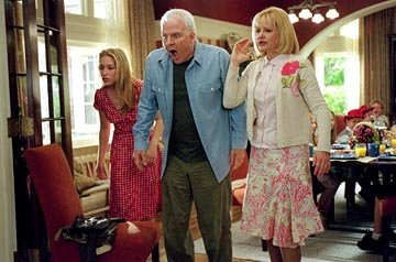 Piper Perabo , Steve Martin and Bonnie Hunt in 20th Century Fox's Cheaper By The Dozen