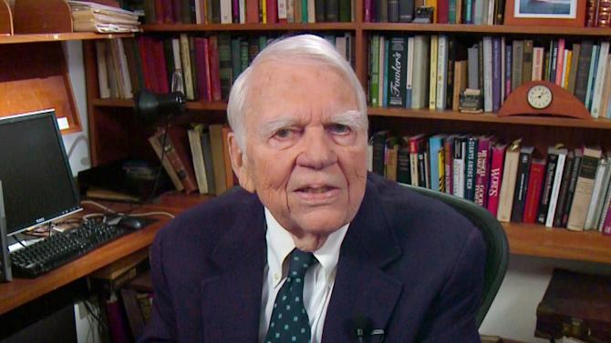 "CORRECTS DAY AND DATE OF DEATH - FILE - In this Aug. 23, 2011 file image taken from video and provided by CBS, Andy Rooney tapes his last regular appearance on ""60 Minutes"" in New York. CBS says former ""60 Minutes"" commentator Andy Rooney died Friday Nov. 4, 2011 at age 92. (AP Photo/CBS) MANDATORY CREDIT; NO SALES; NO ARCHIVE; NORTH AMERICAN USE ONLY"