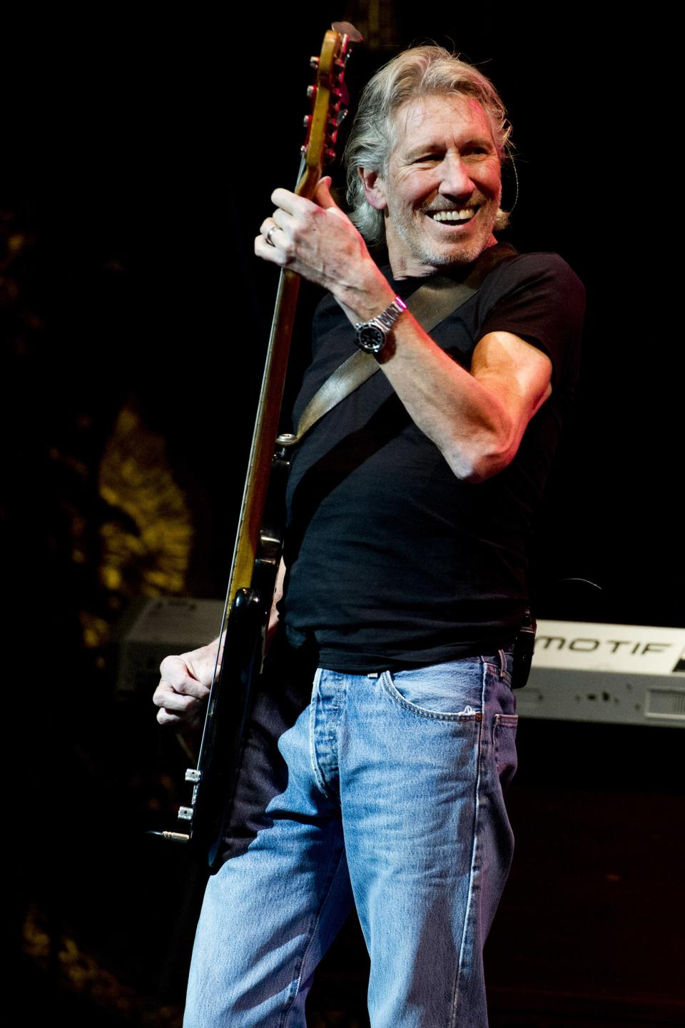 Roger Waters performs at the 6th Annual Stand Up For Heroes benefit concert for injured service members and veterans on Thursday, Nov. 8, 2012 in New York. (Photo by Charles Sykes/Invision/AP)