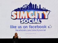 "Lucy Bradshaw GM of Maxis presents Simcity integrated into Facebook during the EA (Entertainment Arts) media briefing in June 2012. Electronic Arts said Friday it had filed suit claiming Zynga's game ""The Ville"" illegally copied the life simulator ""The Sims Social."""
