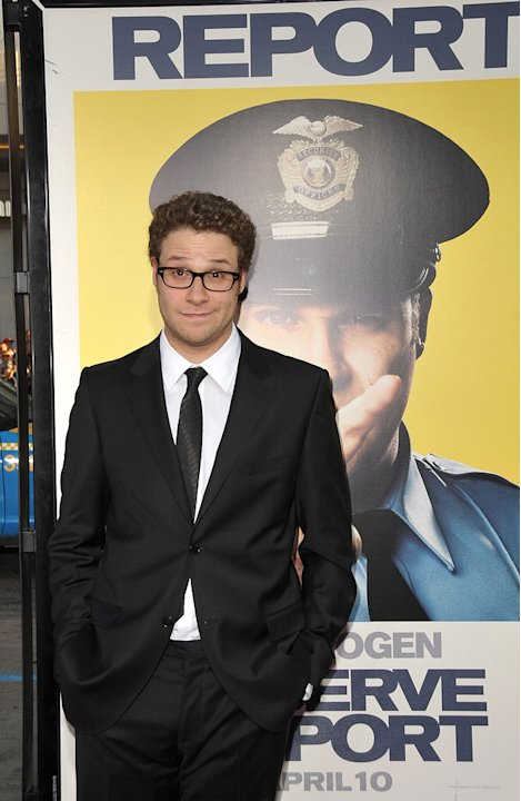 Observe and Report LA premiere 2009 Seth Rogen