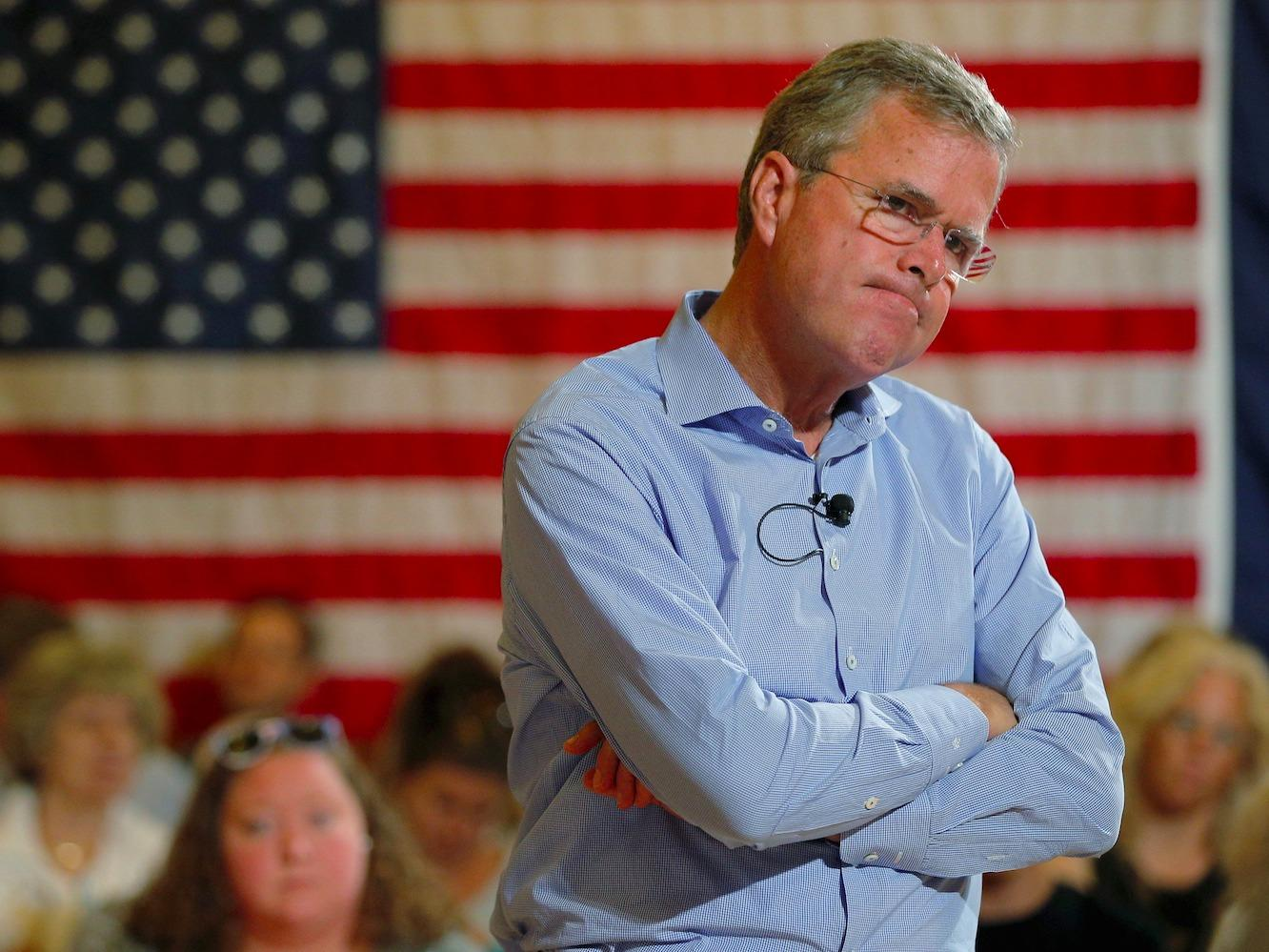 After Donald Trump goes nuclear on Jeb Bush, Jeb responds that Trump is soft on crime
