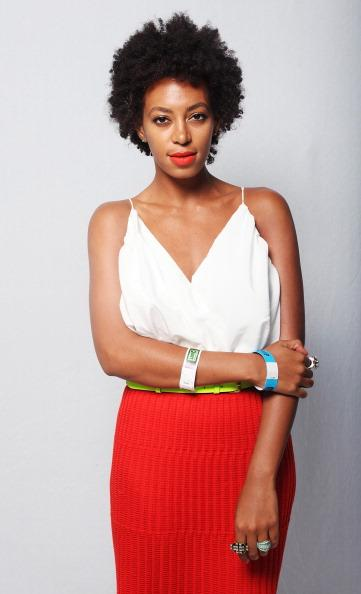 AUSTIN, TX - MARCH 16: Solange Knowles poses for a portrait backstage at Fader Fort presented by Converse during SXSW on March 16, 2012 in Austin, Texas. (Photo by Roger Kisby/Getty Images)