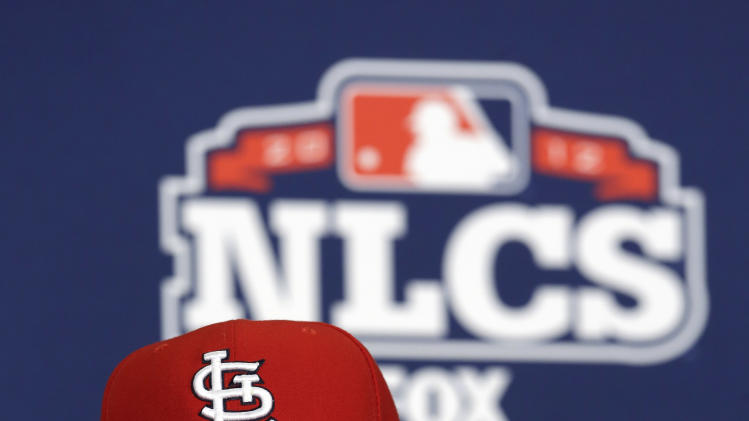 St. Louis Cardinals manager Mike Matheny speaks during a news conference Tuesday, Oct. 16, 2012, in St. Louis. The Cardinals host the San Francisco Giants in Game 3 baseball's National League championship series on Wednesday. (AP Photo/Jeff Roberson)