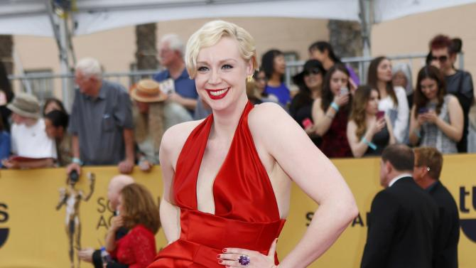 Actress Gwendoline Christie arrives at the 21st annual Screen Actors Guild Awards in Los Angeles