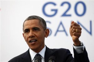 U.S. President Barack Obama speaks during a news conference at the G20 in St. Petersburg