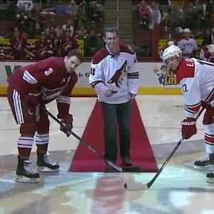 Paul Goldschmidt drops puck at Coyotes game