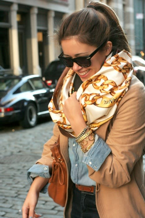 Vintage Silk Statement Scarf