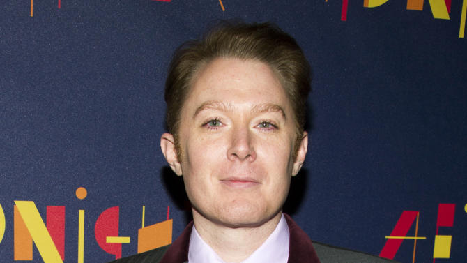 """FILE - This Nov. 3, 2013 file photo shows former """"American Idol"""" contestant Clay Aiken at the Broadway opening of """"After Midnight""""in New York. Aiken officially filed Thursday, Feb. 27, 2014, to run for Congress in North Carolina, saying that he wants to help end the gridlock in Washington and that no single political party has all the answers. (Photo by Charles Sykes/Invision/AP, File)"""
