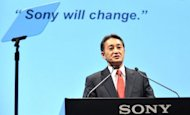 Sony's new chief Kazuo Hirai speaks during a press briefing in Tokyo last week. Sony shares were among the fallers on Tuesday as renewed fears over Europe's sovereign debt crisis continued to dampen market sentiment in Asia
