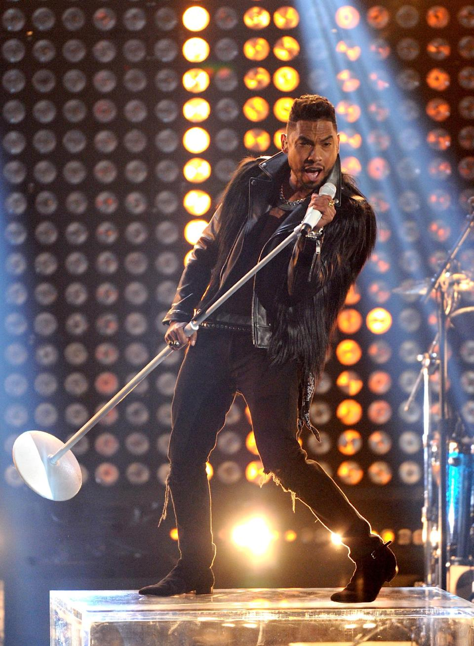 Miguel performs onstage at the BET Awards at the Nokia Theatre on Sunday, June 30, 2013, in Los Angeles. (Photo by Frank Micelotta/Invision/AP)
