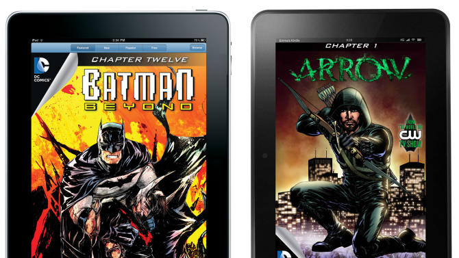 DC offering monthly titles via Apple, Amazon, B&N