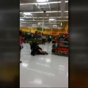 Watch: Officer placed on leave after making forceful arrest in Walmart store