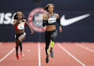 Sanya Richards-Ross competes in the Women's 200 Meter Dash Preliminaries on day seven of the US Olympic Track & Field Team Trials at the Hayward Field on June 28, in Eugene, Oregon. Richards-Ross ran this year's world second-best time of 22.15 to lead eight finalists into a women's 200m showdown