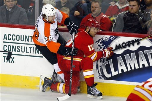 Read's SO goal caps Flyers' comeback vs. Flames