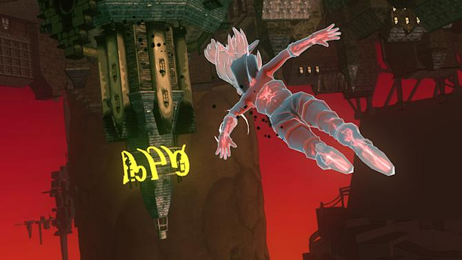 "This image provided by Sony shows action from the game ""Gravity Rush""  for the PlayStation Vita. (AP Photo/Sony)"