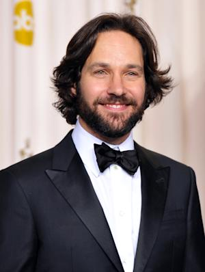 "FILE - This Feb. 24, 2013 file photo shows actor Paul Rudd at the Oscars at the Dolby Theatre in Los Angeles. Julianna Margulies and Paul Rudd will team up for a one-night only benefit reading of Neil LaBute's play ""The Mercy Seat."" MCC Theater said Thursday the reading will be held June 17 at the Lucille Lortel Theatre. (Photo by John Shearer/Invision/AP, file)"