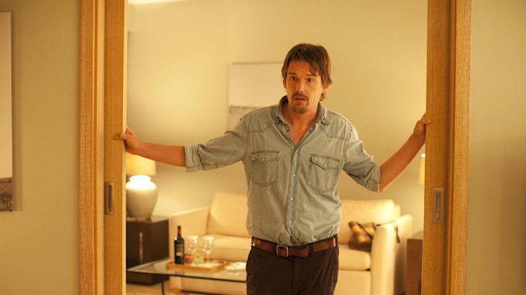 "This undated publicity photo released by Sony Pictures Classics shows, Ethan Hawke in a scene from the film, ""Before Midnight.""  (AP Photo/Sony Pictures Classics, Despina Spyrou)"