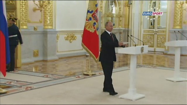 Putin welcomes Russian Olympians