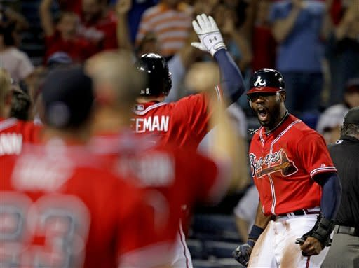 Heyward scores in 10th, Braves beat Blue Jays 4-3