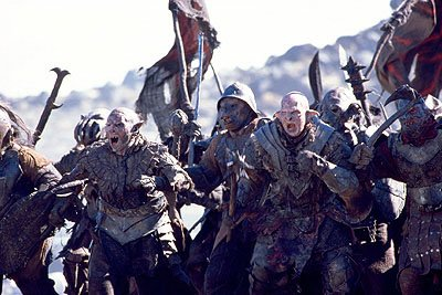 The orcs attack in New Line's The Lord of The Rings: The Fellowship of The Ring